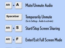 Zoom Shortcut Keys